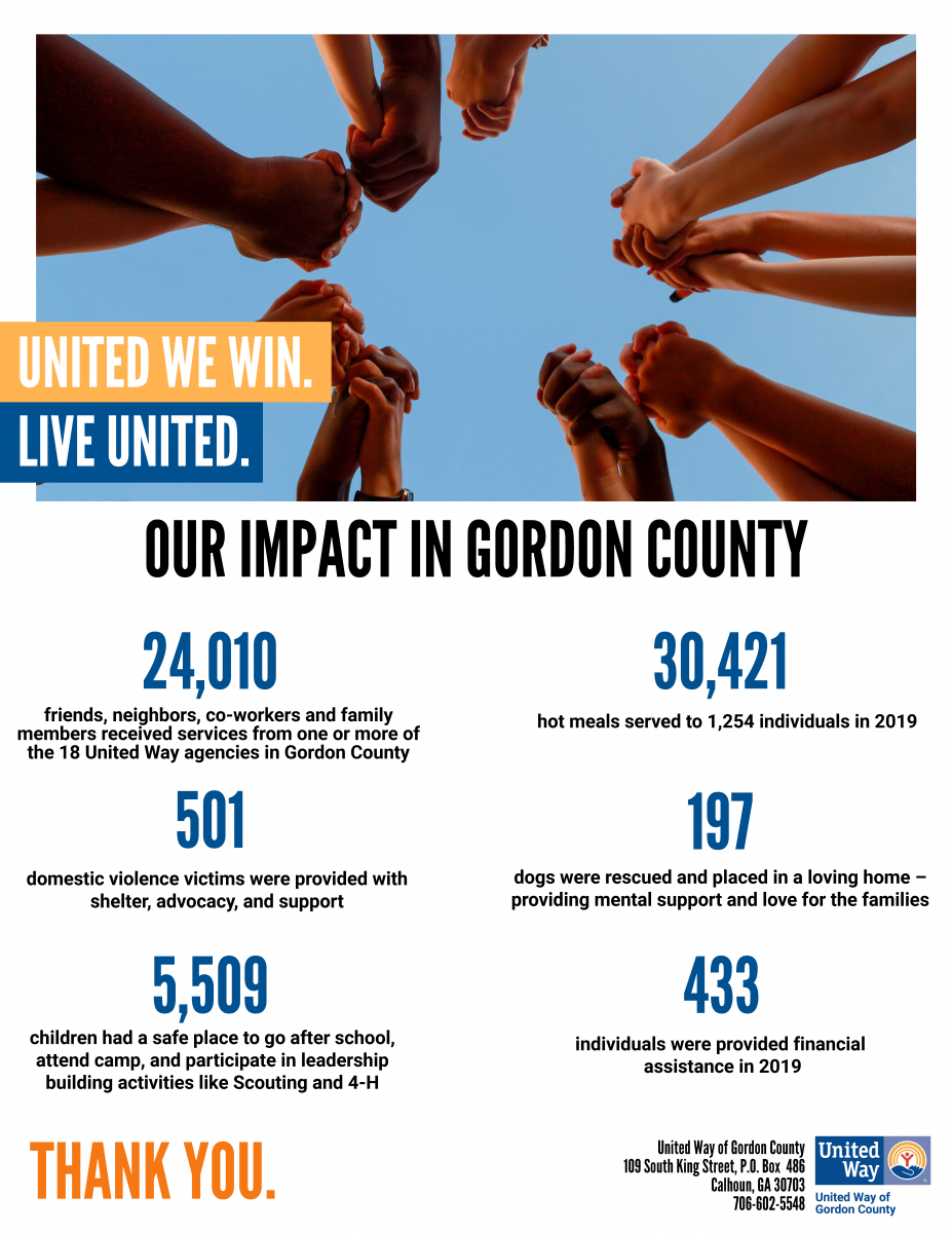 United Way of Gordon County's Impact